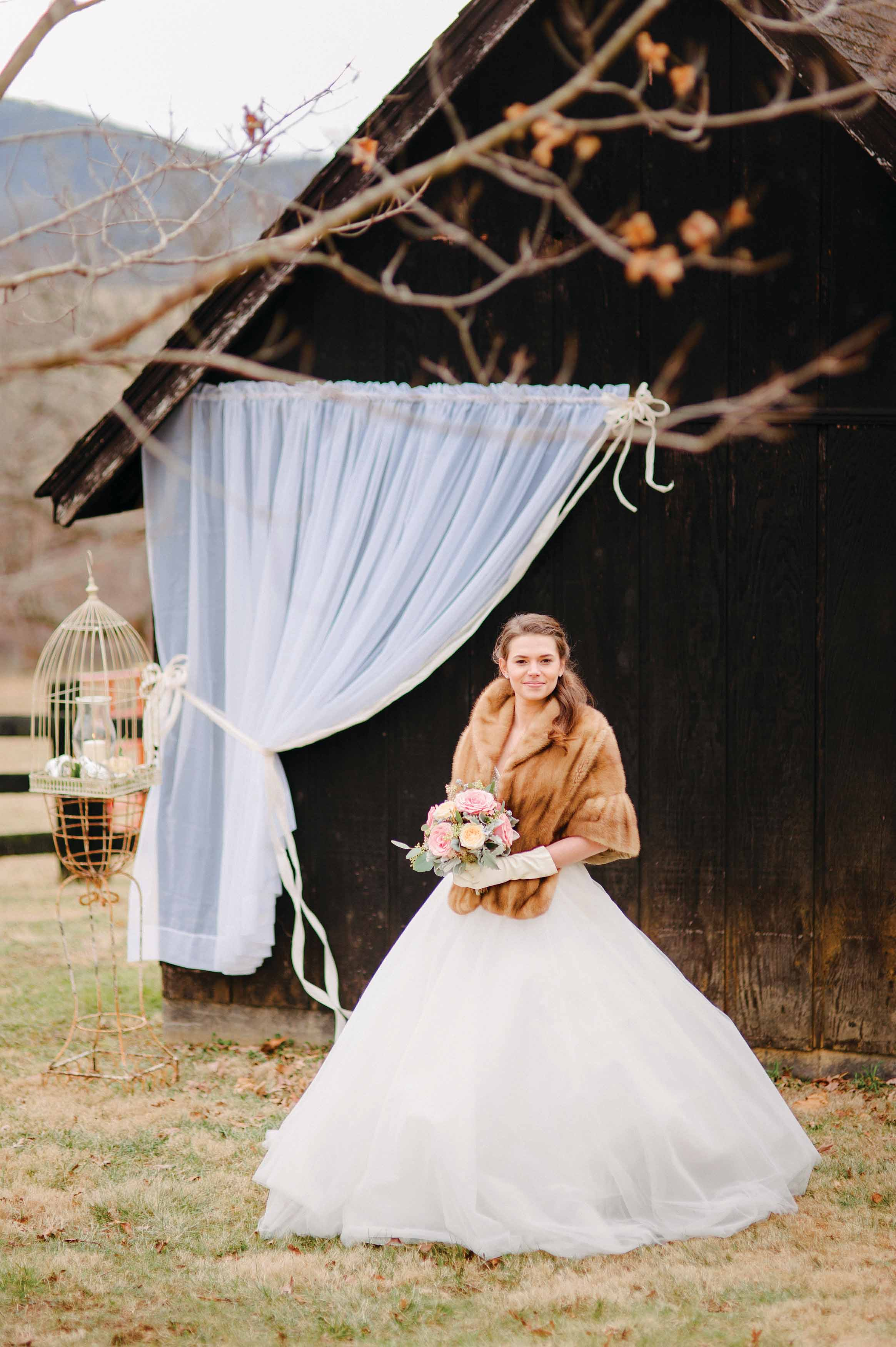 A Bride By The Barn At Gaie Lea In Staunton Virginia